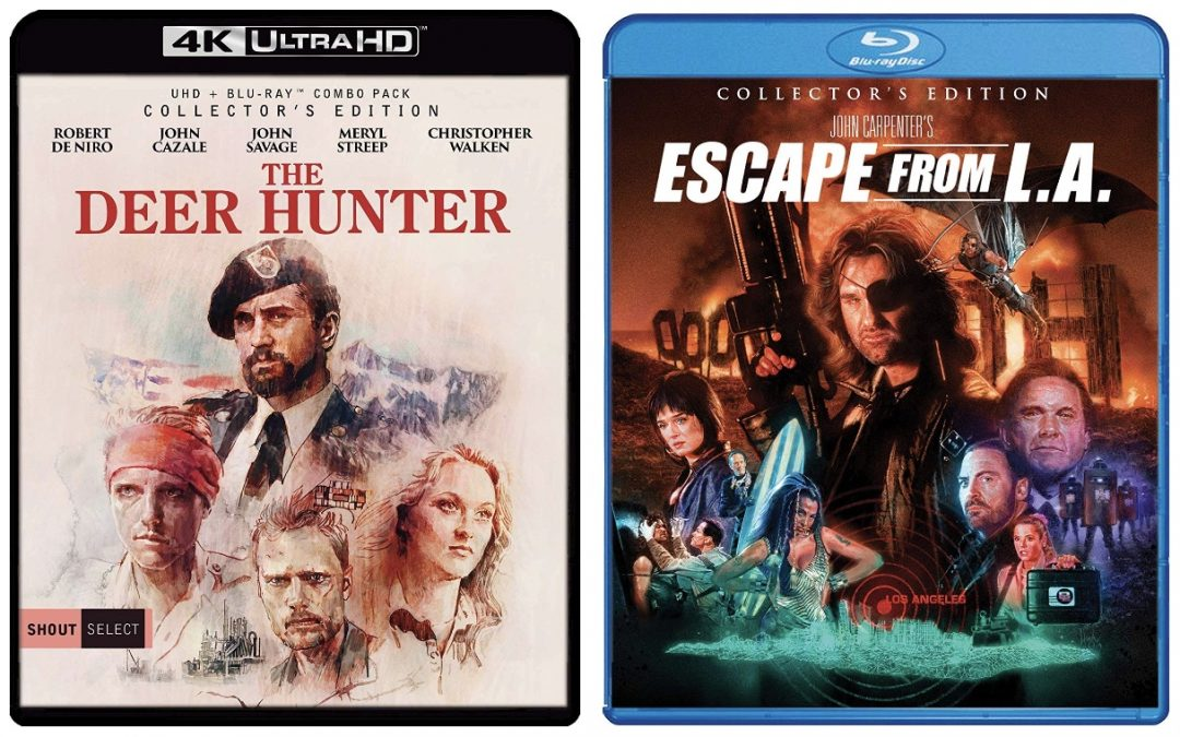THE DEER HUNTER AND ESCAPE FROM L.A. NOW AVAILABLE FROM SHOUT! FACTORY